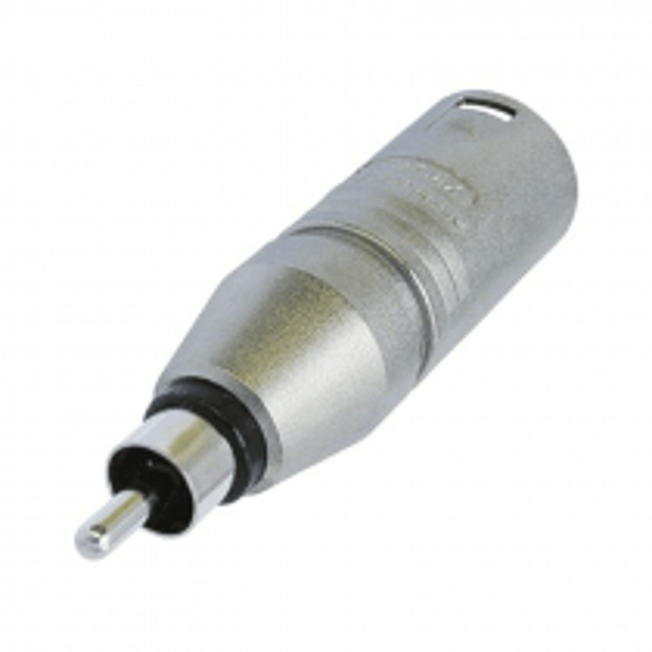 NA2MPMM -  Neutrik Adaptateur XLR 3 poles Mâle / RCA Mâle Format connecteur Neutrik