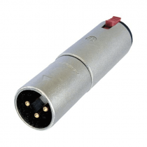 NA3MJ -  Neutrik Adaptateur XLR 3 poles Mâle / Jack 6,35 stéréo Femelle Format connecteur Neutrik