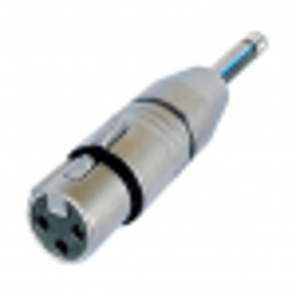 NA2FP -  Neutrik Adaptateur XLR 3 poles Femelle / Jack 6.35 Mâle mono Format connecteur Neutrik