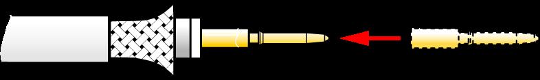 NBNC75BXU13 - BNC Neutrik male a sertir pour cable DUBLO Neutrik
