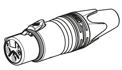 Schémas du connecteur Neutrik XLR Femelle NC3FXX